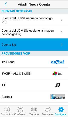 paso 5 de configuracion de cuenta SIP en GS Wave