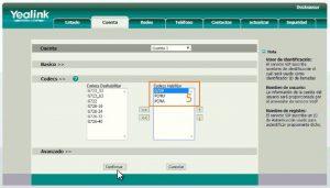 Configuración deskphone Yealink paso 5 - voipocel