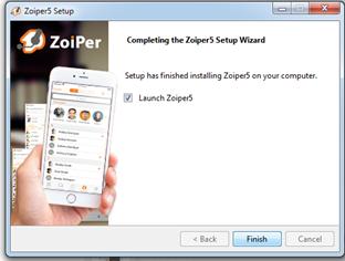 Bienvenida instalador Zoiper