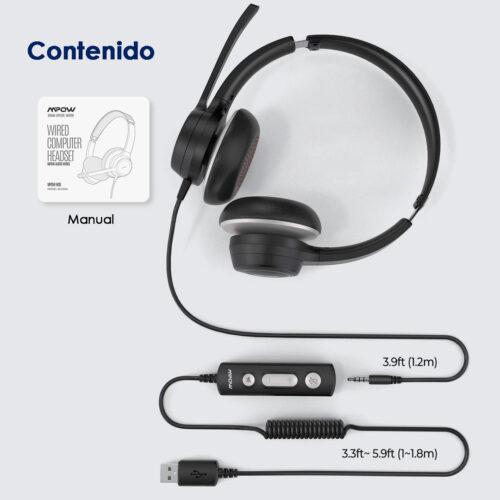 Audífono USB MPow HC6 - Contenido